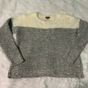 Vince Camuto eyelash yoke marled pullover sweater